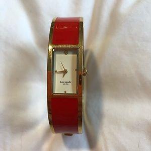 Kate Spade Red Cuff Bracelet Watch